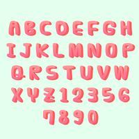 Alfabeto vettoriale 3D