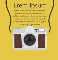 banner fotocamera vintage stile piatto