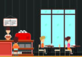 Illustrazione del concetto di mensa vettore