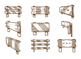 Vettori di guardrail disegnati a mano