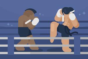 Illustrazione di Muay Thai vettore