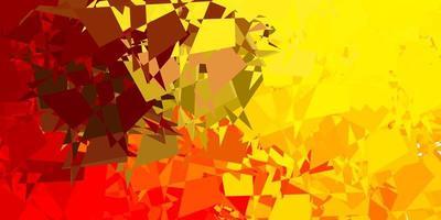 rosso chiaro, sfondo giallo con forme casuali.