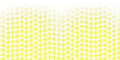 trama vettoriale giallo chiaro con simboli di malattia.