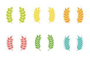 Icone di vettore di orecchie di grano