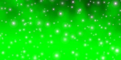 modello verde chiaro con stelle al neon.