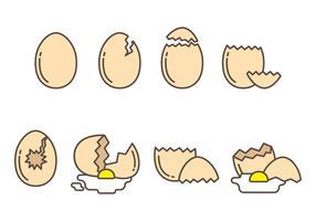 Raccolta vettoriale di uova rotte gratis