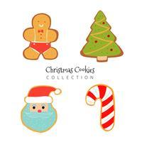 Carino collezione Christmas Gingerbread vettore