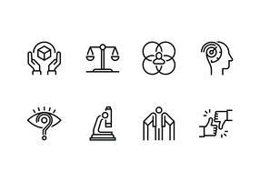 Icona lineare set di personalità e carattere vettore
