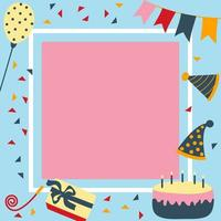 elementi di carta di compleanno e festa vettore