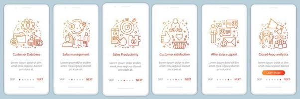 pagina dell'app mobile di marketing onboarding