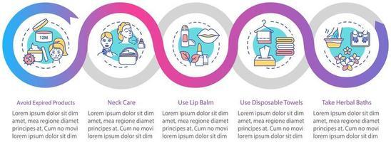 modello di infografica per la cura della pelle.