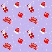 modello viola di Natale Babbo Natale per carta da imballaggio