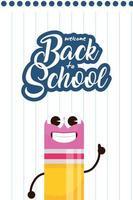 la scuola kawaii fornisce personaggi per il ritorno a scuola
