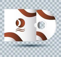 icona di mock-up del marchio del compact disc vettore