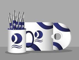 set di modelli di branding e marketing vettore