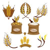 Vettore di orecchie di grano