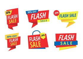 Prezzo Flash Banner vettoriali gratis
