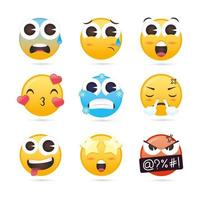 collezione di emoji carina vettore
