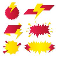Prezzo Flash etichette vettoriali