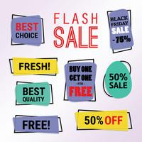 Vettore di etichetta Flash prezzo libero