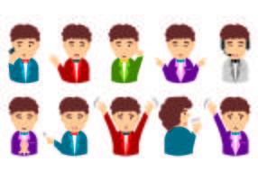 Set di Contact Me Avatar Vettori