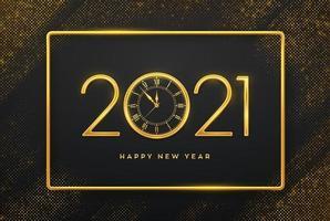 felice anno nuovo numeri d'oro di lusso 2021 vettore