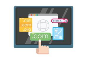 Illustrazione di dominio e sito Web vettore