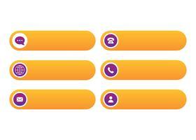 Contattimi modello libero del bottone del bottone