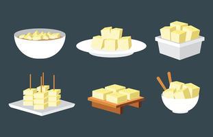 Icone di vettore del tofu