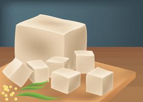 Illustrazione vettoriale di tofu
