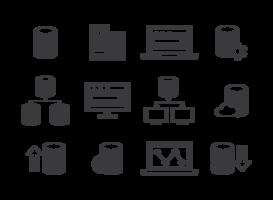 Vettore delle icone di base di dati