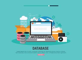 Illustrazione della base di dati vettore