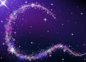 Polvere di stelle con Bokeh vettore