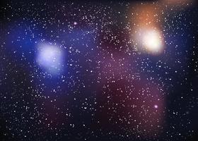 Polvere di stelle nella galassia vettore