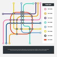 Fondo astratto di vettore delle azione della mappa della metropolitana di colore