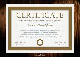 Modello di certificato del diploma di vettore