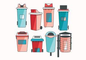 cestino dei rifiuti vol 2 vettoriale