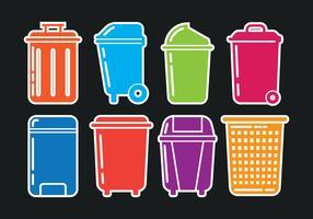 Icone del cestino dei rifiuti vettore