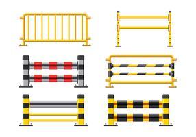 Recinzione in acciaio. Elementi di design dei guardrail vettore