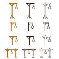 Set di icone di forca