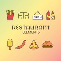 Vettore gratuito degli elementi del ristorante