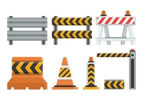 Raccolta di illustrazione vettoriale Guardrail