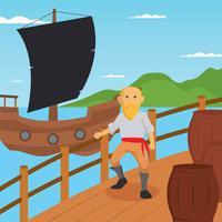 Illustrazione di Seaman gratis vettore