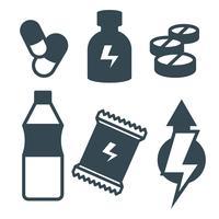 Suplements icone vettoriali