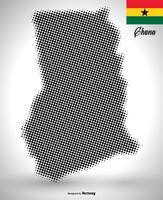 mappa del Ghana vettoriale in mezzitoni