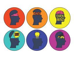 Set vettoriale di mente aperta