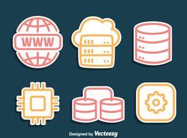 vettore icone di dominio line