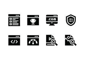 Icona di vettore di sito Web impostata