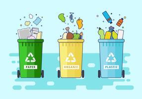 Illustrazione di vettore di cestino di rifiuti gratuiti