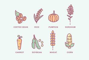 Vari tipi di piante vettore